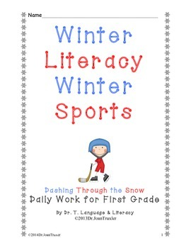 Freebie: Winter Literacy Winter Sports for First Grade