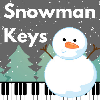 Freebie! Winter Music Game: Snowman Keys