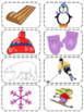 Freebie - Wintry Fun Syllable Sorting, Counting & Spelling