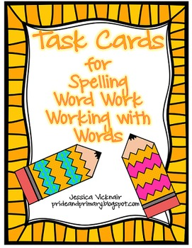 Freebie Word Work/Building Words/Working with Words Task Cards