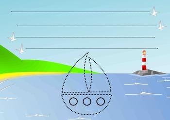 FREEBIE giant tracing worksheet: horizontal lines - midlin