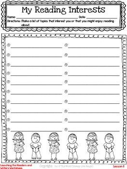 Freebie...Discover Your Students' Reading and Writing Interests