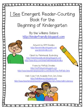 Freebie~Emergent Reader Counting Book for the Beginning of School