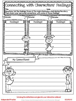 Freebie...Interactive Notebook Lessons for Common Core Rea
