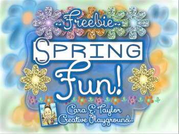 ~Freebie~Spring Fun Activity Mats