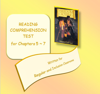 Freedom Crossing Reading Comprehension Test FREE SAMPLE