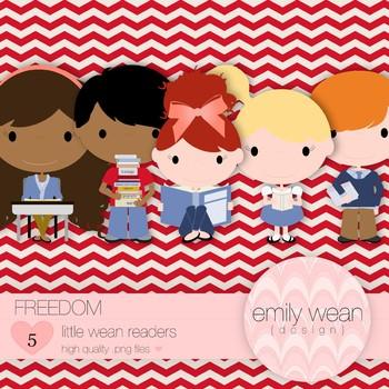 Freedom - Little Readers Clip Art