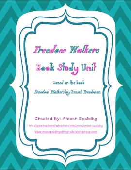 Freedom Walkers Book Unit