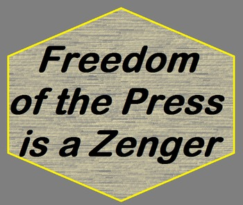 Freedom of the Press is a Zenger Lesson Plan