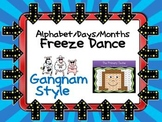 Freeze Dance Alphabet/Days/Months - Gangnam Style
