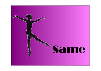 Freeze Dance silhouette- Same Different edition