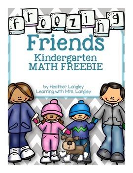 Freezing Friends Math FREEBIE for Kindergarten K.NBT.A.1