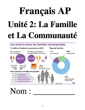 French 4 Unit 2: Families & Communities (no textbook neces