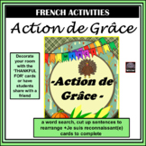 French - Action de grâce – Thanksgiving activities