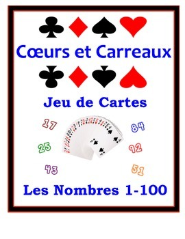 French Numbers 1-100 Speaking Activity: Playing Cards, Groups