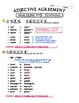 French Adjective Agreement Variations Chart