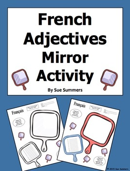French Adjectives Mirror Sketch Activity