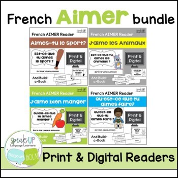 French Aimer Readers & Build-a-Books {Bundled set of 4}