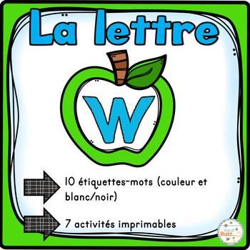 """French Alphabet - L'alphabet - La lettre """"W"""""""