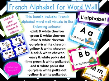 French Alphabet for WordWall