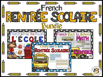 French Back to School Bundle- Rentrée Scolaire