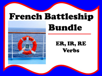 French Battleship Bundle - ER, IR, RE verbs