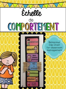 French Behaviour (Behavior) Management Clip Chart (Échelle