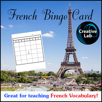 French Bingo Card