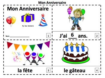 French Birthday 2 Emergent Reader Booklets - Mon Anniversaire