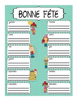 French Birthday Poster