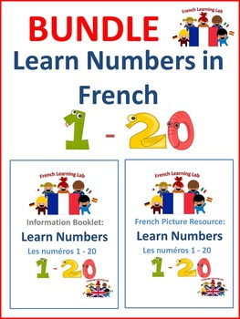 French Bundle - Learn Numbers 1 - 20 - Picture resource an