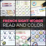 French Sight Words Color & Read Bundle