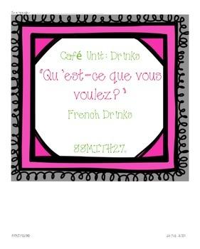 French Café Drinks: Qu'est-ce que vous voulez?