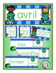 French Calendar Pocket Chart Bundle for Spring