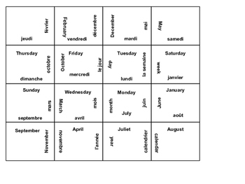 French Calendar Puzzle