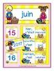 French Calendar Set for June - beach theme (for pocket cha