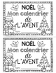 FRENCH CHRISTMAS NOËL (Advent Calendar Booklet/Calendrier