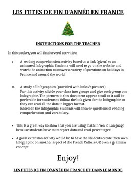 French Christmas Group activity using info graphics