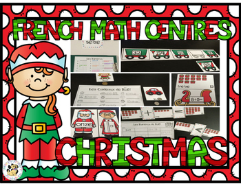 French Christmas Math Centers- Noël