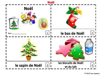 French Christmas / Noël 2 Emergent Reader Booklets and Pre
