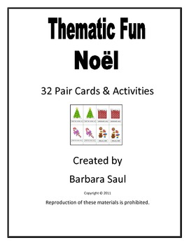 French Christmas-Noël Vocabulary Pair Cards and Activities