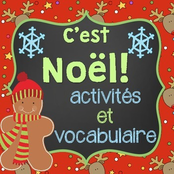 French Christmas Package and Vocabulary (Activités de Noël