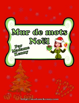 French Christmas Word Wall - Mur de mots - Noel