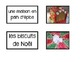 French Christmas word wall words and games - Le vocabulair
