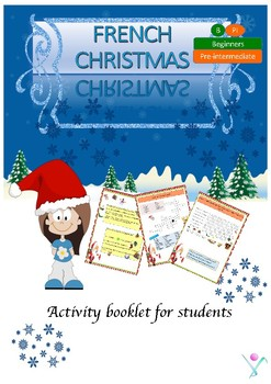 French Christmas worksheet, Noël booklet for beginners