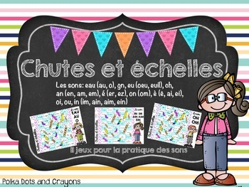 French Chutes and ladders game Phonics Edition (Chutes et