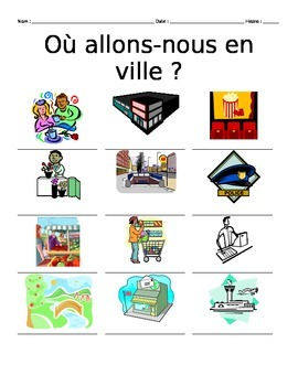 French City Places Vocabulary Notes