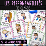 French Classroom Jobs and Responsabilities - Les responsab