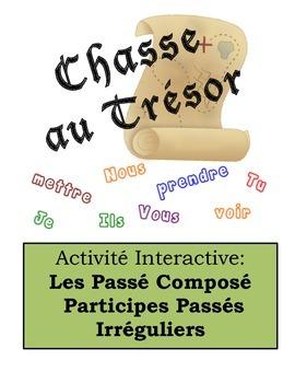 French Passé Composé (Irreg. Past Part.) Scavenger Hunt Activity