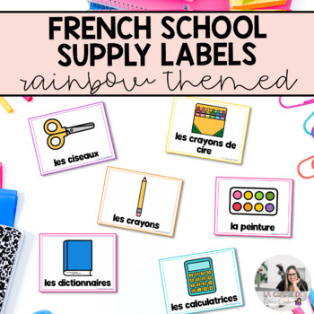 French Classroom Supply Labels / Étiquettes pour les fourn